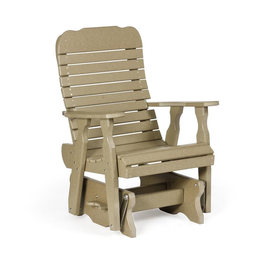 amish single poly easy glider chair | glider chair, gliders and