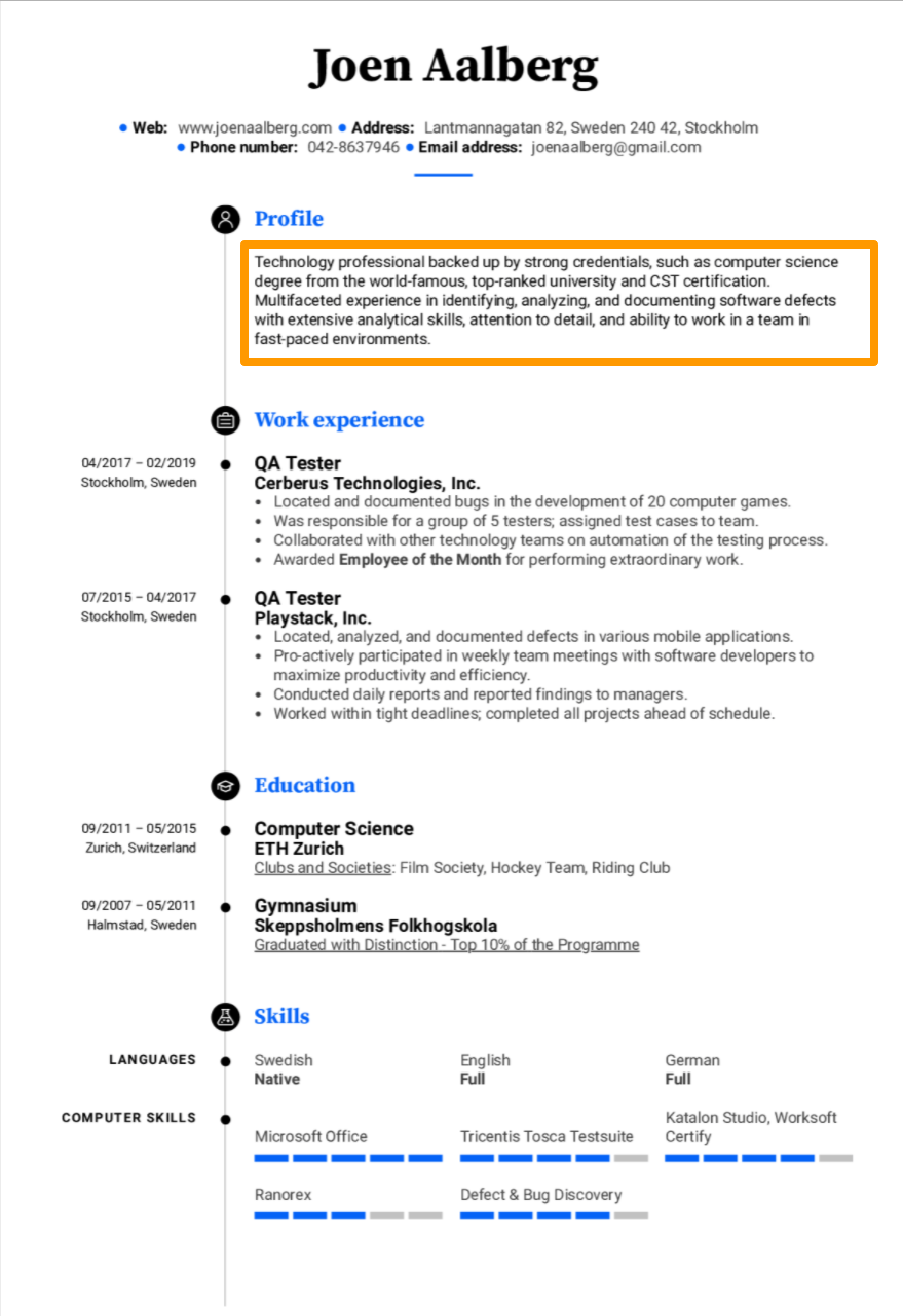 Good Game Tester Resume Example If You Have Determined That You Want To Start A Career S A On