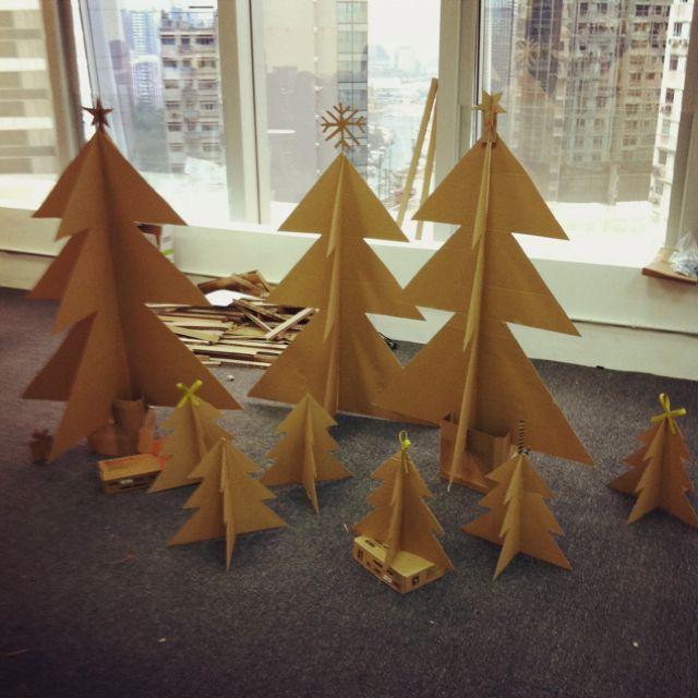 Paper Christmas Tree for new office Christmas Pinterest