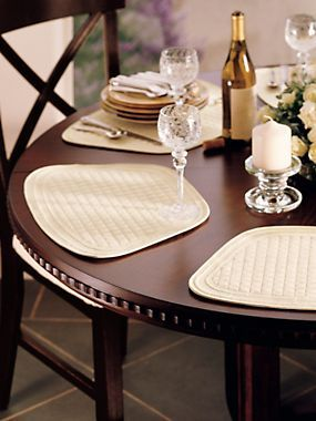 round table placemats wedge shape
