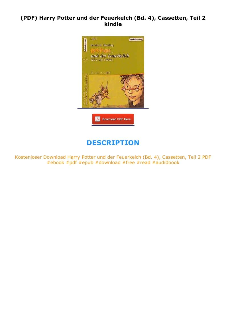 Pdf Harry Potter Und Der Feuerkelch Bd 4 Cassetten Teil 2 Kindle In 2020 Ebook Kindle Harry Potter