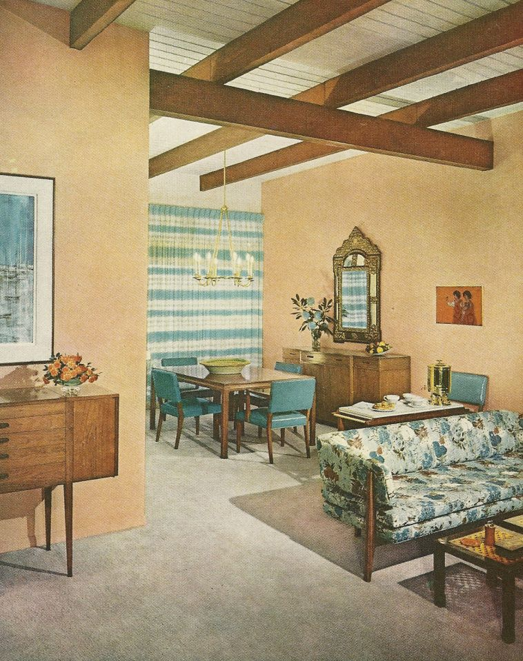 1960s Decorating, Vintage Home Decor, 1960s Rooms