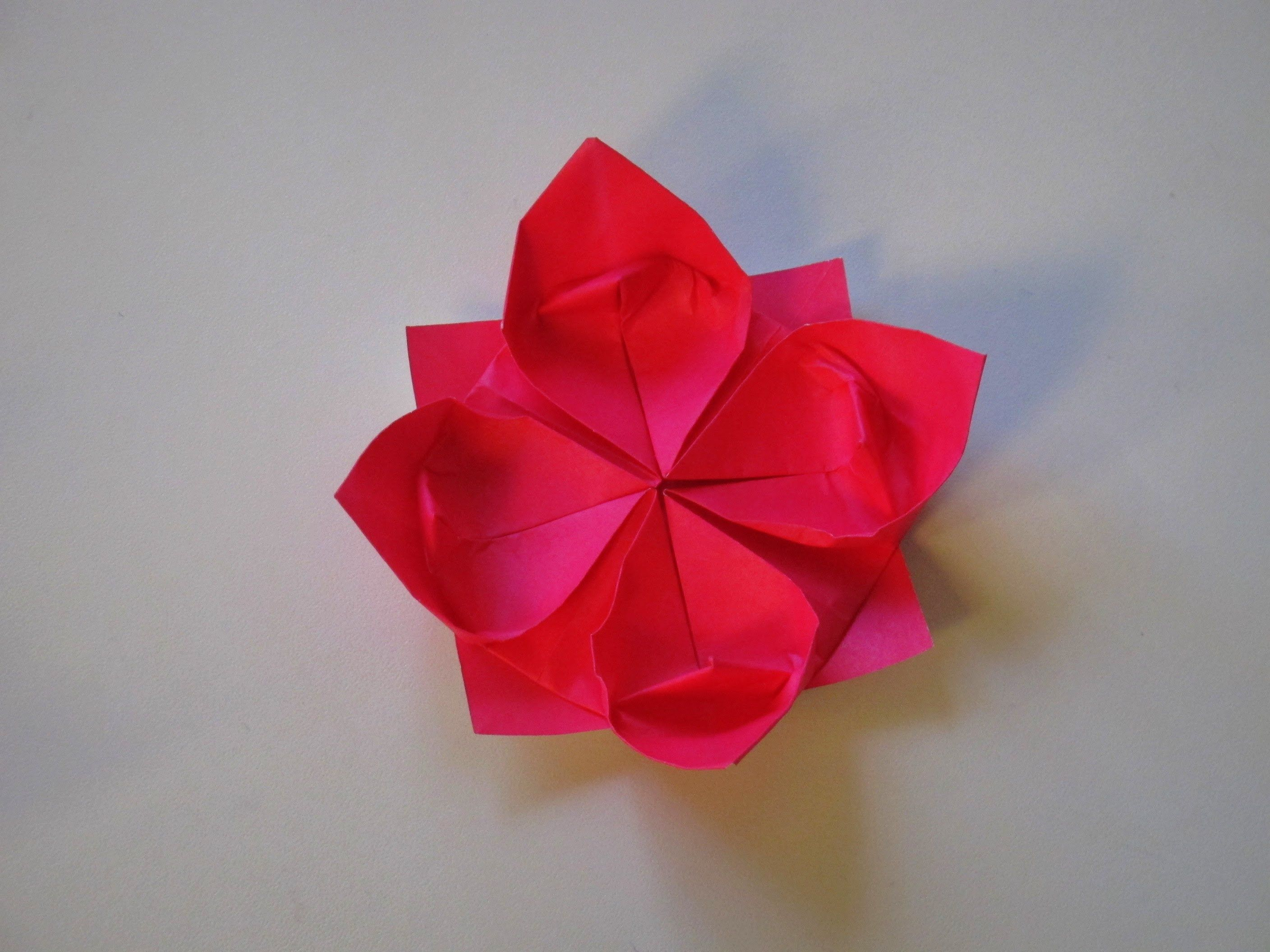 Origami how to make a lotus flower inspiration for How to make a lotus with paper