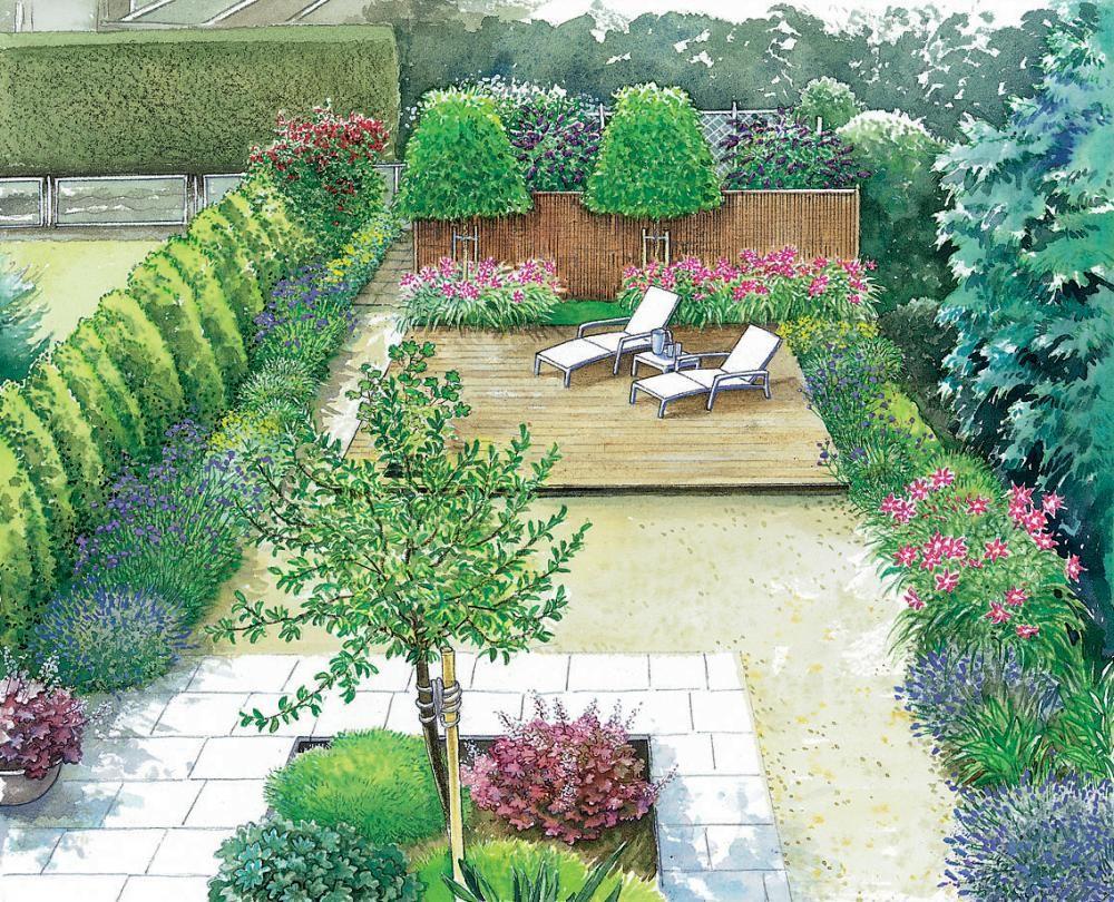 gestaltungsideen f r einen kleinen reihenhausgarten gartenanlage pinterest garten. Black Bedroom Furniture Sets. Home Design Ideas