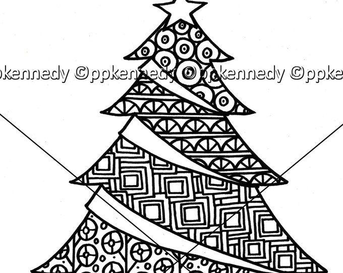 Paw Print Pdf Zentangle Coloring Page Etsy Emoji Coloring Pages Coloring Pages Christmas Tree Zentangle