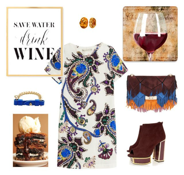 """""""Friday Night Happy Hour"""" by phillipst622 on Polyvore featuring Kat Maconie, Roger Vivier, Marc by Marc Jacobs, Tiffany & Co. and Mary Katrantzou"""