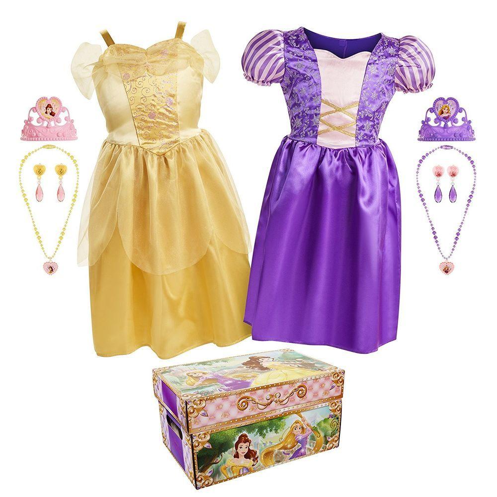 Disney princess bella rapunzel dress up trunk kid play
