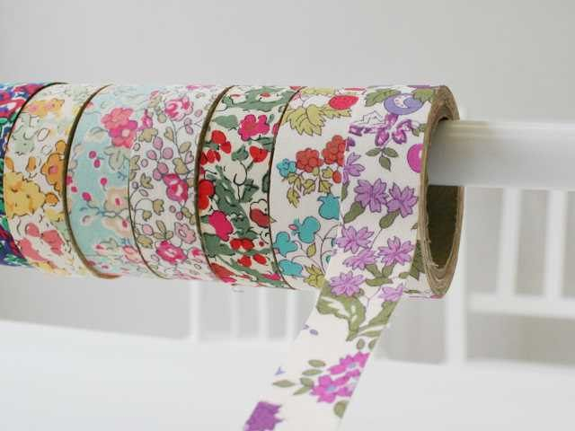 liberty of london tana lawn- fabric tape - set of 2 -nancy-anne - red