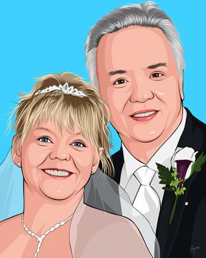 Wedding Gift Idea For Older Couple Artwork From Your Photo Lichtenstein Style Only At Giveamas Gifts For Older Couples Miami Wedding Venues Older Couples