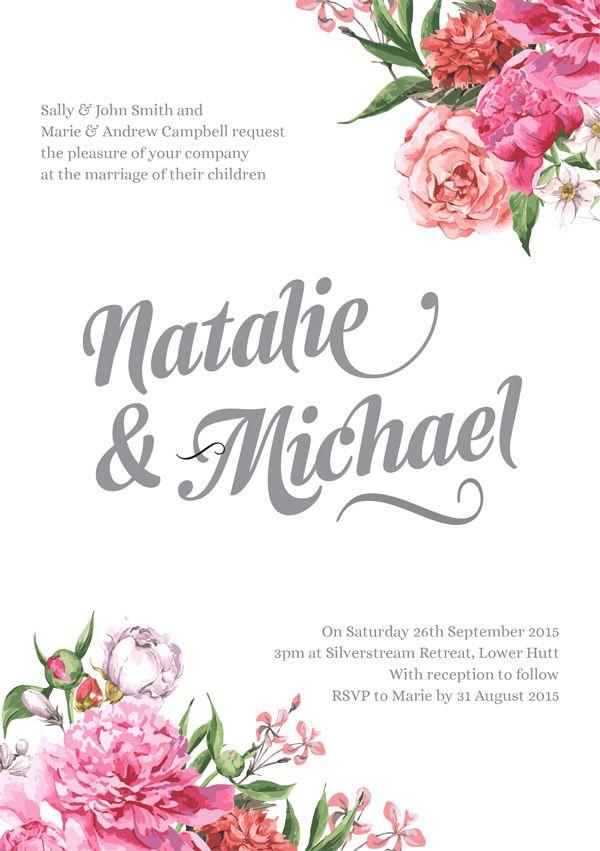 FREE Floral wedding invitation | Wellington Wedding & Conference ...