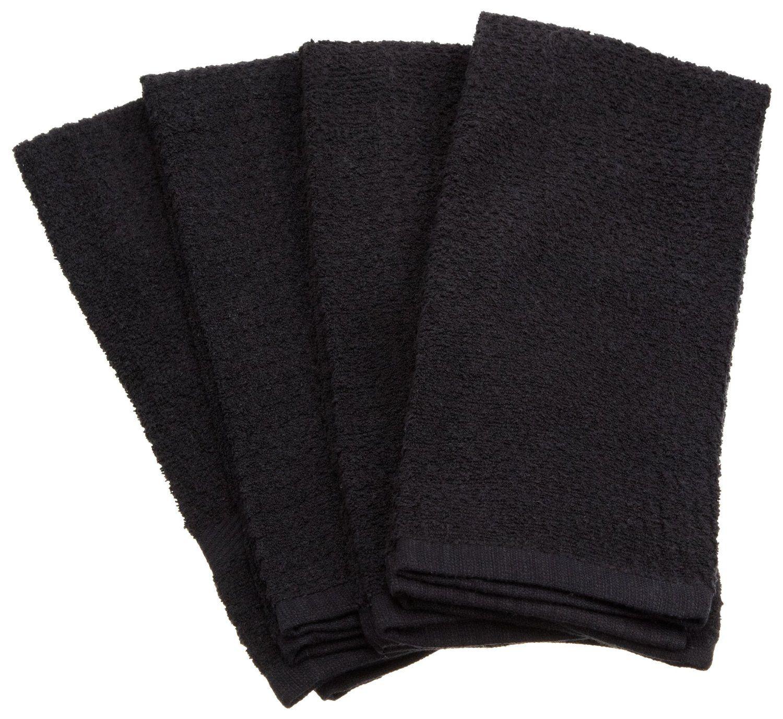 Amazon Com Dii 100 Cotton Basic Waffle Terry Towel Set Of 4 Black Kitchen Towels Amazoncart Dii Designimports Towel Terry Towel Kitchen Towels