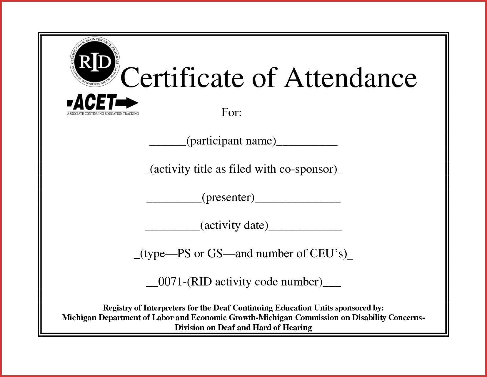 The Terrific Continuing Education Certificate Template Carlyns Education Certificate Certificate Of Completion Template Certificate Of Participation Template Ceu certificate of attendance template