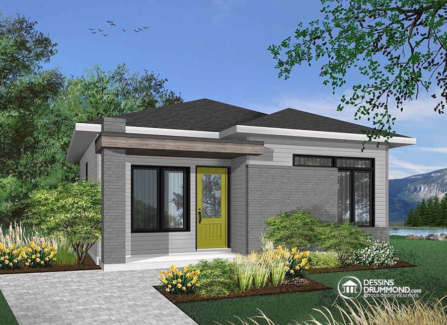 Détail du plan de Maison unifamiliale W1704-BH | plain-pied | Pinterest