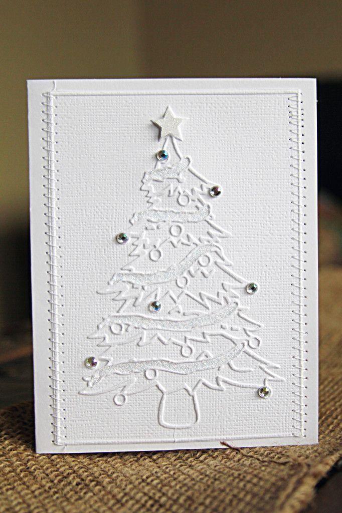 handmade cards tutorial with elegant white on white