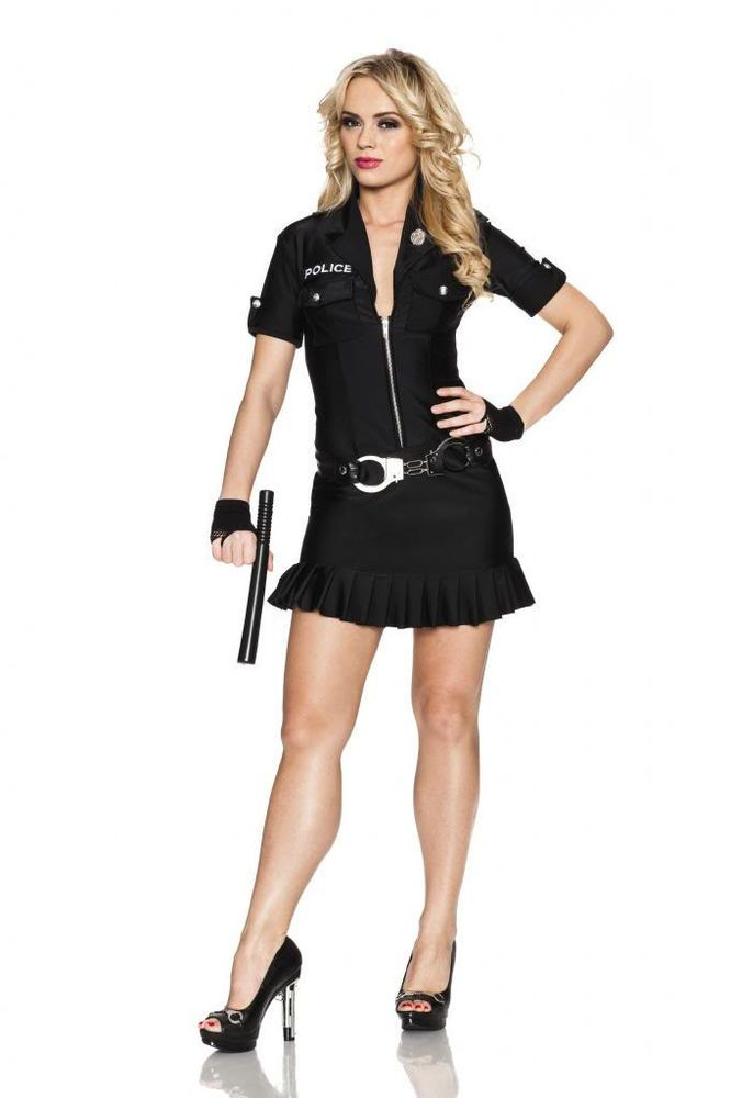 9a6df0d05ed Arresting Officer Sexy Police Woman Bad Girl Cop Halloween Costume ...
