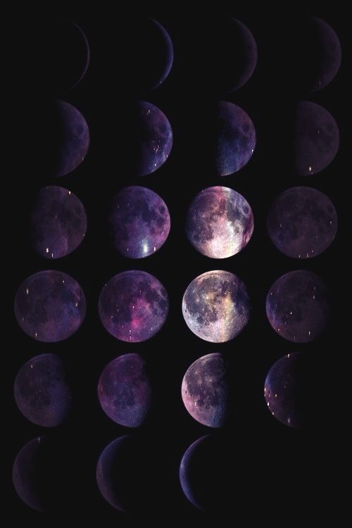 Moon Phases Outspace Witchy Wallpaper Witch Wallpaper Dark Wallpaper