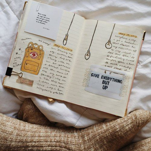 art journals \/ tumblr \/ art \/ journal \/ writing \/ drawing \/ paint - book writing