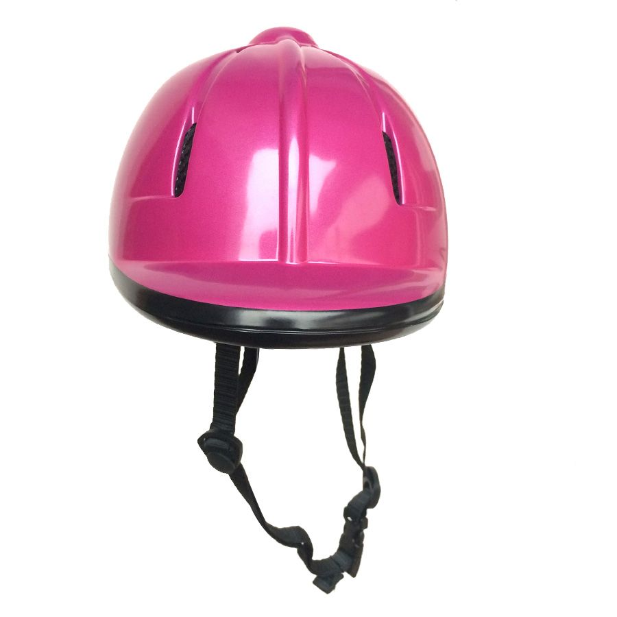 Children Half Cover Horse Riding Helmet Mauve Safety Equestrian