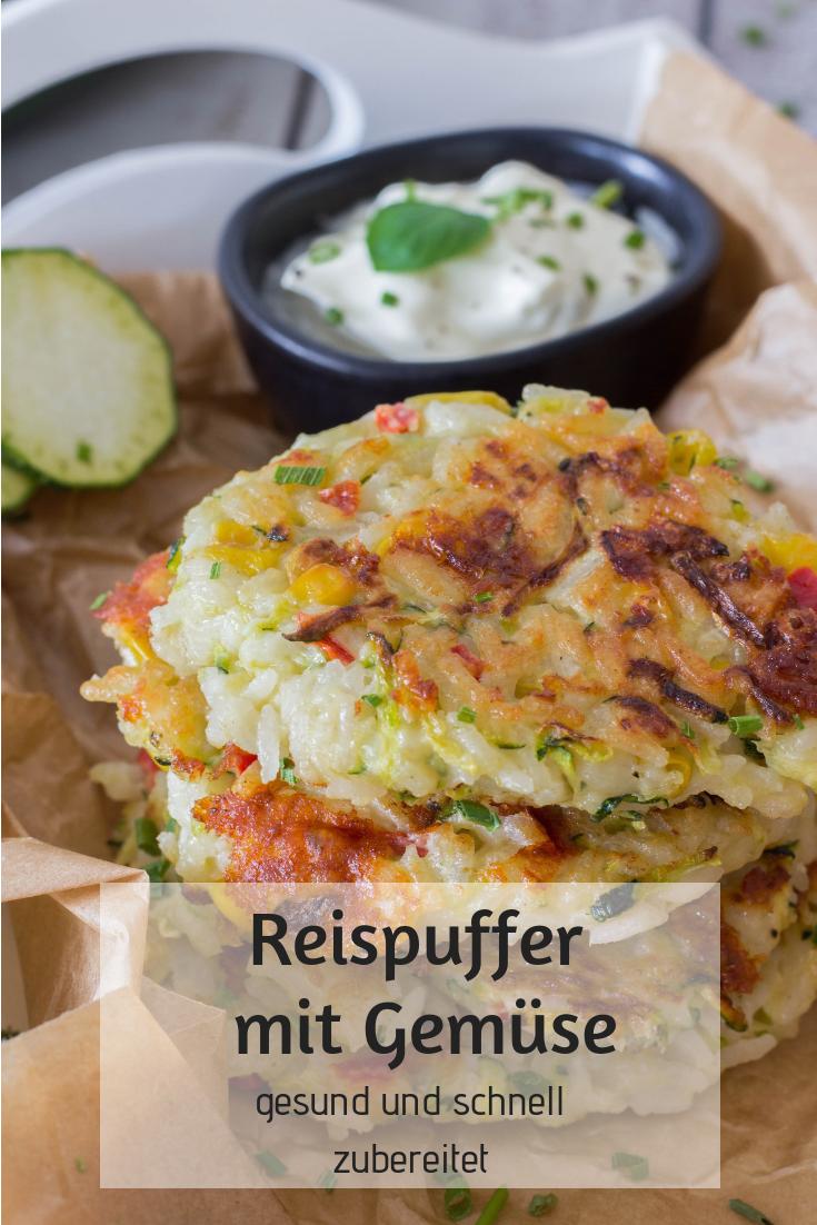 Reispuffer mit Gemüse - gesund & schnell zubereitet ⋆