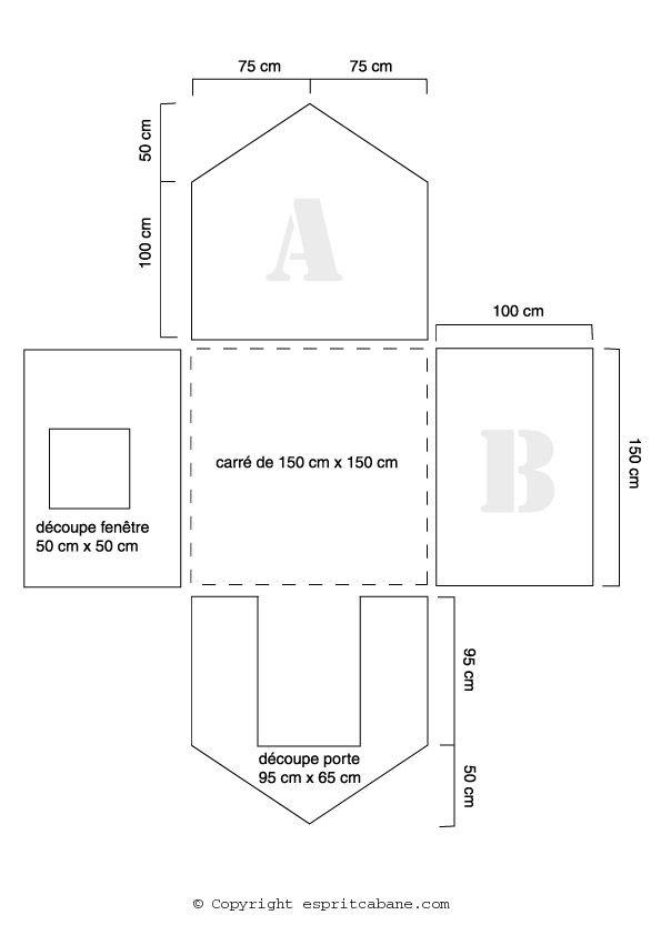 Plan Maisonnette En Carton Recherche Google Plan Cabane Enfant Cabane Enfant Cabane En Carton
