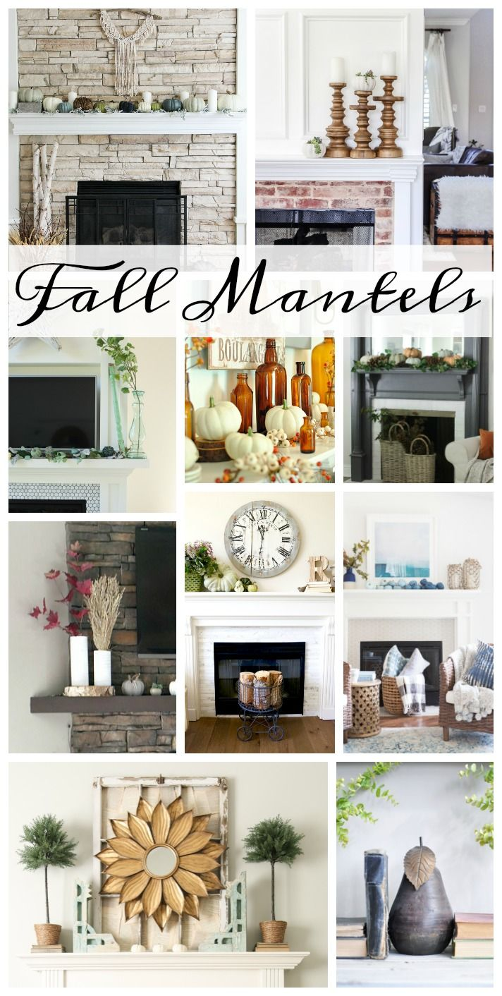 Browse through 10 different Fall Mantels with