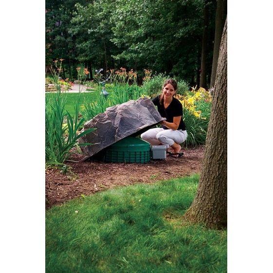Fake Rock Well Pipe Cover Model 109, Fieldstone   18533714   Overstock    Great Deals On DekoRRa Garden Accents   Mobile