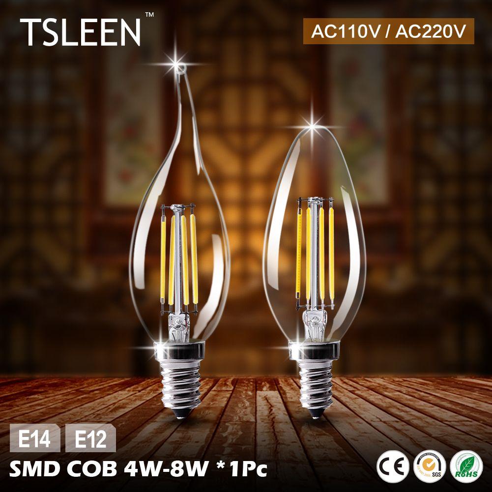 TSLEEN E12 Led Lampe E14 220 V Led Ampoules 110 V Bougie