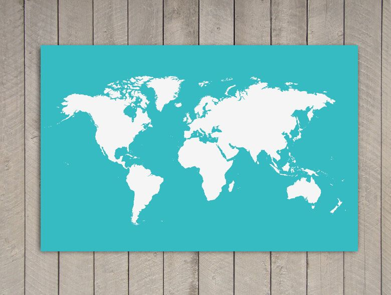 Cyan poster world map print 394 in x 275 in xlarge 3000 cyan poster world map print 394 in x 275 in xlarge 3000 gumiabroncs Images