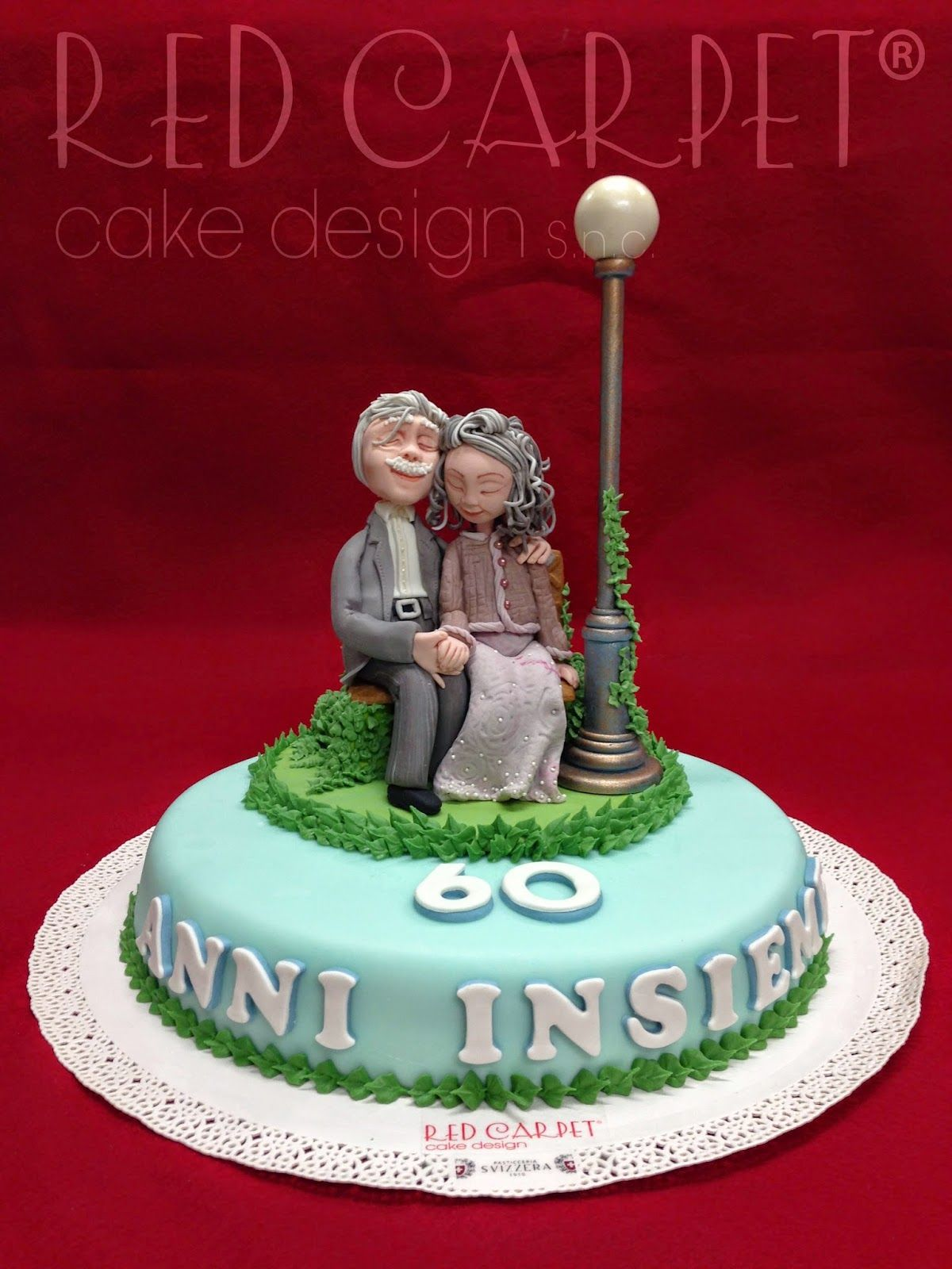 OLD COUPLE IN LOVE 60     ANNIVERSARY by Red Carpet Cake Design     OLD COUPLE IN LOVE 60     ANNIVERSARY by Red Carpet Cake Design