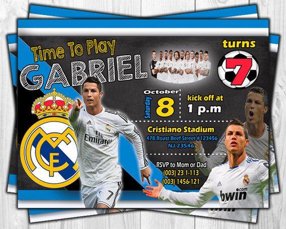 Cristiano Ronaldo Soccer Birthday Invitation Masons 8th Birthday