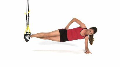 Exercise of the Day! Add a TRX to your Lateral Pillar Bridge to work the side of your torso and your pillar strength even harder.