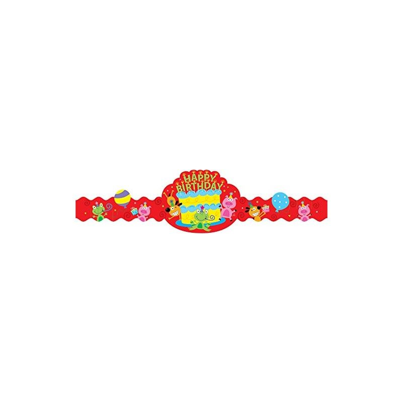 Happy Birthday Fun Crowns Party Hats for Kids - English Wooks