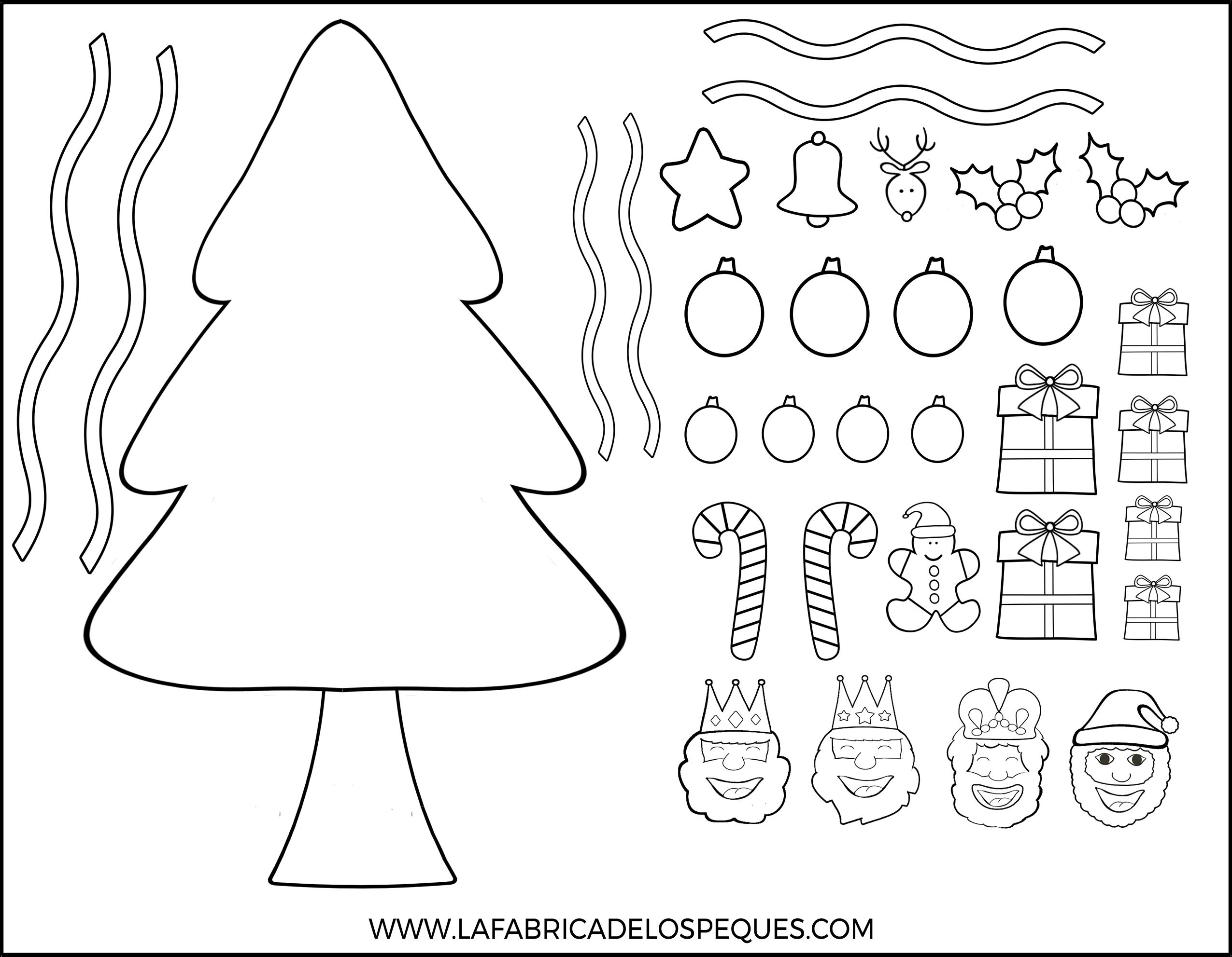 Imprimibles infantiles gratis árbol navidad papel | Manualidades con ...