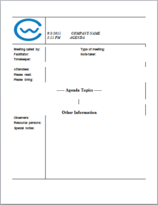 Writing An Agenda On A Sheet Of Paper Is Customary As Every Organization  Practice To Write Agenda From Pen And Paper And Present It On The Time Of  Meetings  Microsoft Templates Agenda