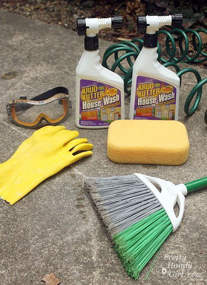 Krud kutter exterior clean up without a pressure washer or ladder diy yard outside pinterest for How to wash your house exterior
