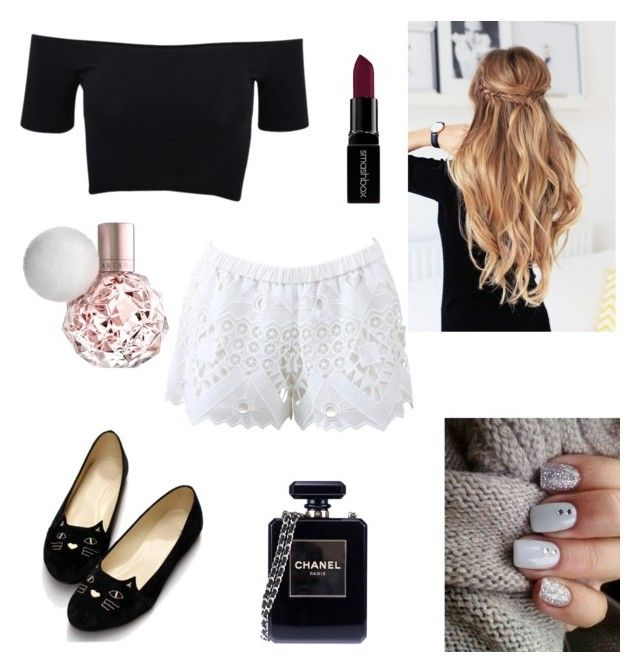 """""""Girly girl"""" by salma-wesam on Polyvore featuring American Apparel, Alexis, Chanel, Smashbox, women's clothing, women, female, woman, misses and juniors"""