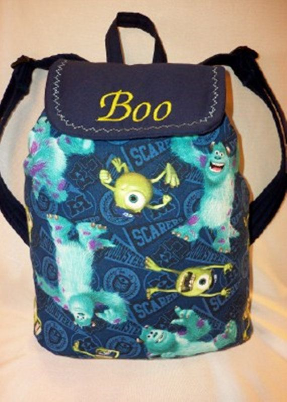 Monster Inc Adorable Medium Back Pack For Boys S Moms Want A Larger One Just Email Me To Do Listing On Etsy 48 99