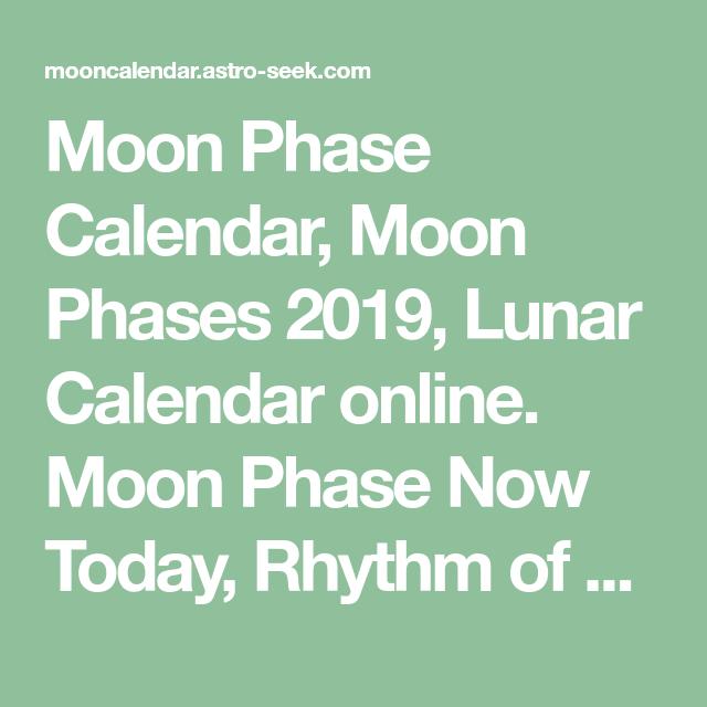 Moon Phase Calendar, Moon Phases 2019, Lunar Calendar online