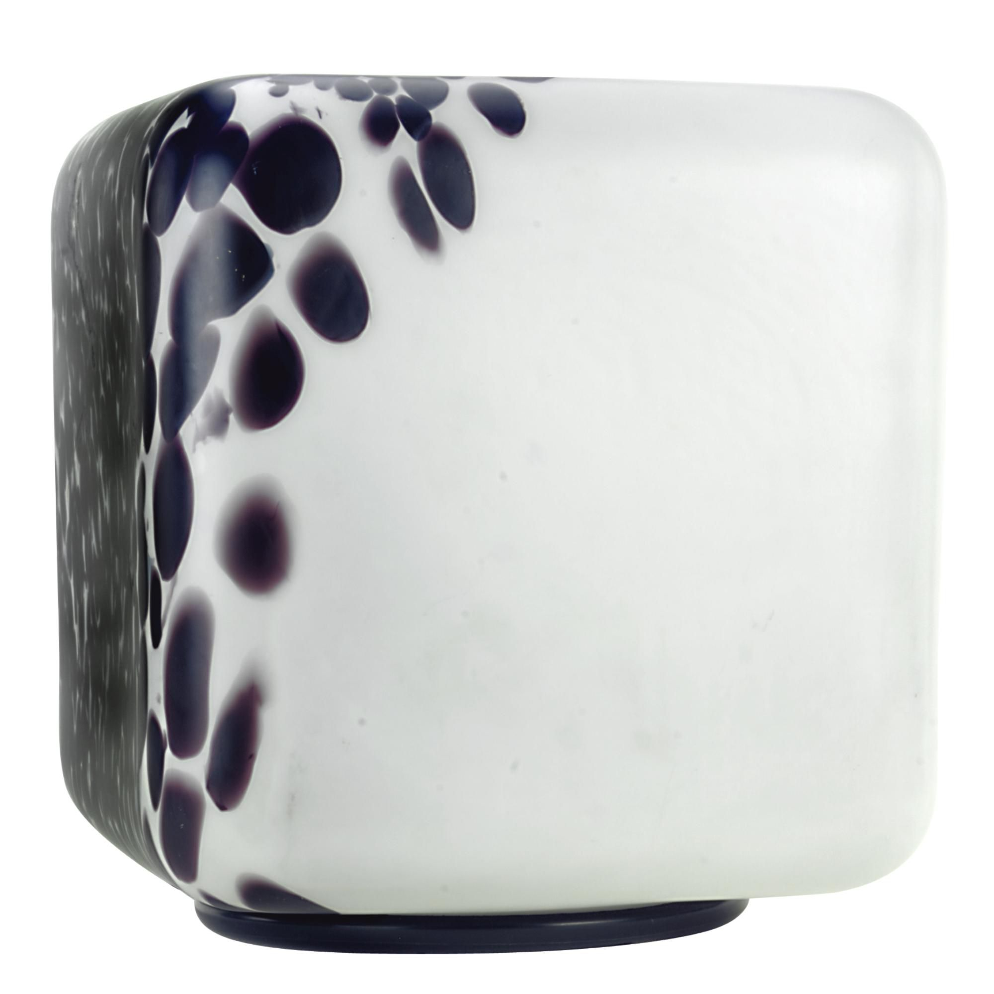 Giorgio de ferrari for veart a large white and aubergine spotted giorgio de ferrari for veart a large white and aubergine spotted cube table lamp the top with an iron handle supporting the shade two bulb fittings geotapseo Choice Image