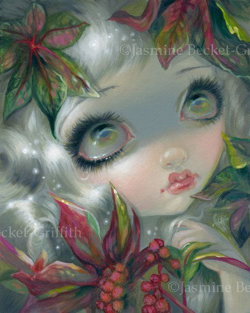 Poisonous Beauties VIII: Castor Bean 8 deadly plants fairy art print by Jasmine Becket-Griffith 8x10