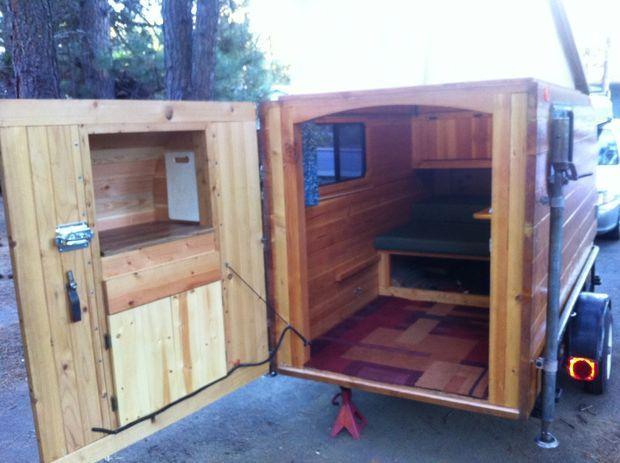 wood pallet camper | Self-made Wooden Camper (Kleine Cabine)