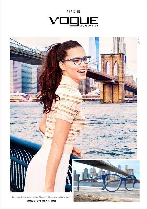 9ad20c7afb8 Adriana Lima Stars in Vogue Eyewear Fall Winter 2016.17 Campaign ...