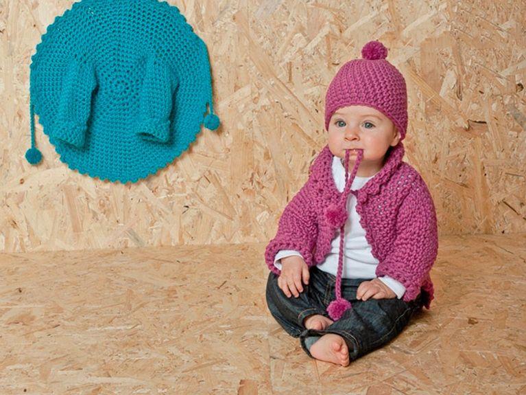 diy anleitung babyjacke h keln via diy anleitungen dawanda und anleitungen. Black Bedroom Furniture Sets. Home Design Ideas