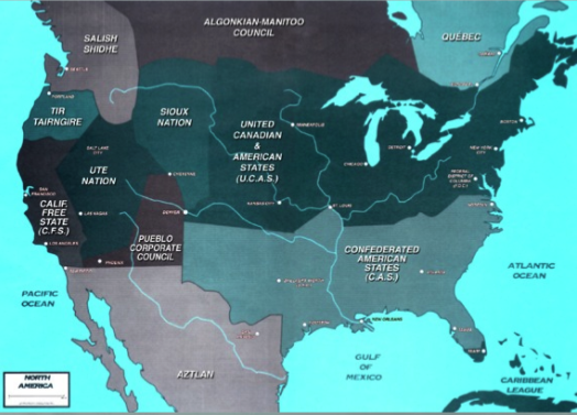 Shadowrun America Map.Shadowrun Northern America Shadowrun And Cyberpunk In 2019