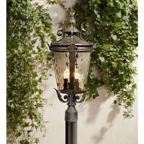 Casa Marseille Collection 25 High 4 Light Outdoor Post Lamp Outdoor Post Light Fixtures Lamp Post Lights Outdoor Post Lights