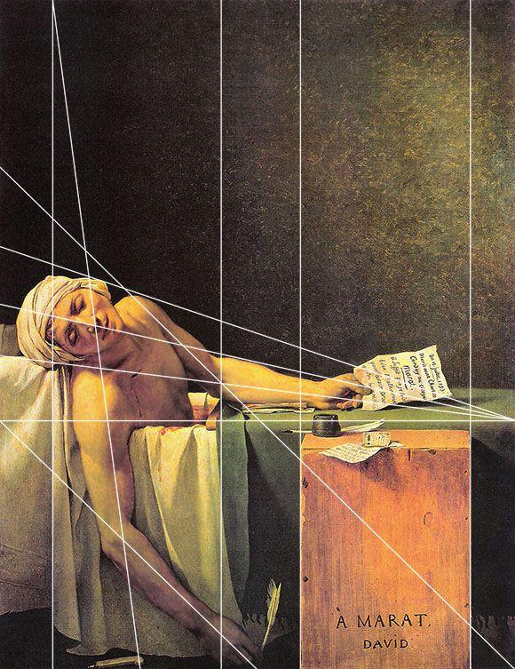 Géométrie Des Peintres Jacques Louis David La Mort De Marat Composition Art Art Proportion Art