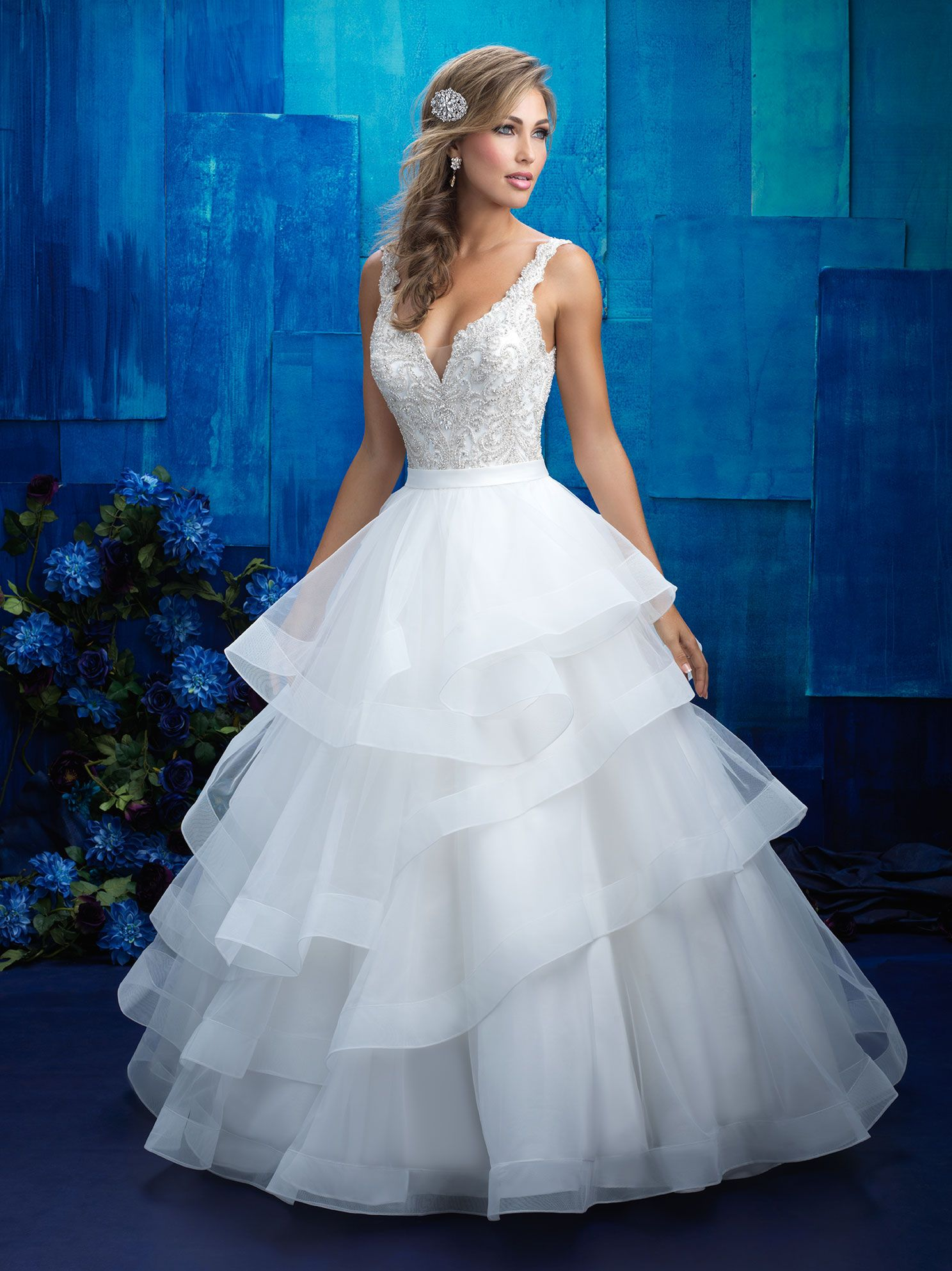 Allure Bridals 9418 Ivory/Nude/Silver Size 14 | Webster-Bridal Gowns ...