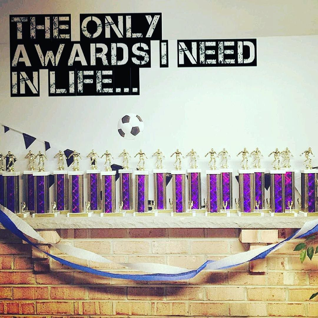 The only awards I need in life... . . . .  Now offering sponsorships: www.soccerware.co
