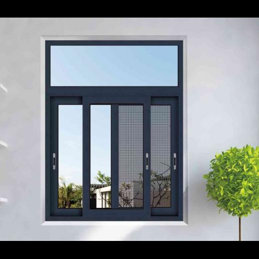 Double Tempered Glass Sliding Window In 2020 Sliding Windows Aluminum Windows Design House Window Design