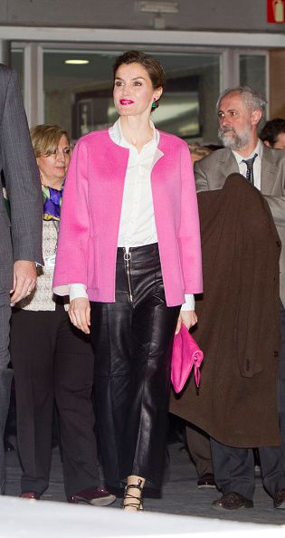 Queen Letizia of Spain attends the opening of the International Contemporary Art Fair ARCO 2016 at Ifema on February 25 2016 in Madrid Spain
